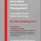 Innovative Performance Management: Leveraging Social Media Technology